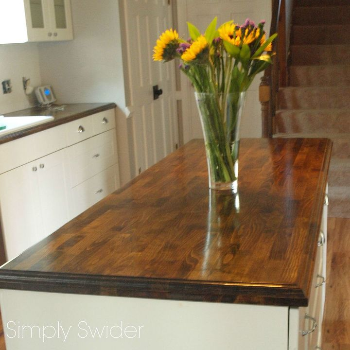 creating custom high end butcher block counter tops for cheap, countertops, diy, how to, kitchen design, woodworking projects