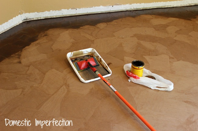 Brown paper bag flooring how to hometalk paper bag floors diy flooring how to mopping on the stain solutioingenieria Images