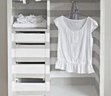 the striped makeover of an antique wardrobe, chalk paint, painted furniture, AFTER