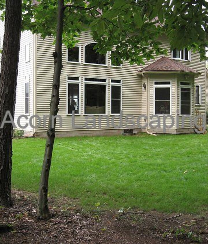 Before Landscape Design Construction in Greece NY Acorn Landscaping
