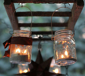How To Create A Mason Jar Patio Chandelier, Mason Jars, Outdoor Living,  Patio