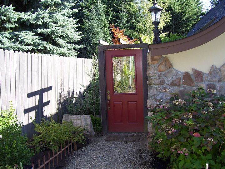 Pass through the french doors and front garden and the next door takes you through the conifer garden into the back gardens and ponds.