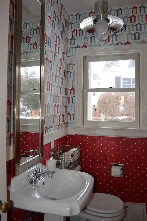 wallpaper powder room, home decor, wall decor