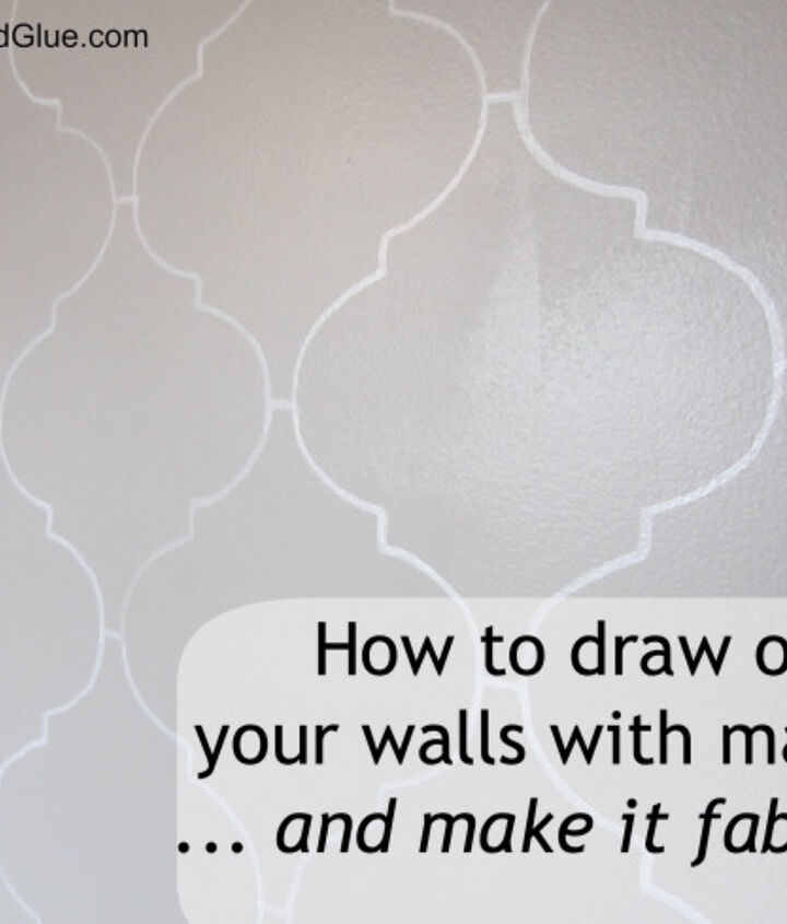 a white bold point Sharpie paint pen makes an awesome impact on your wall- make sure it's the paint pen (so it's water based)