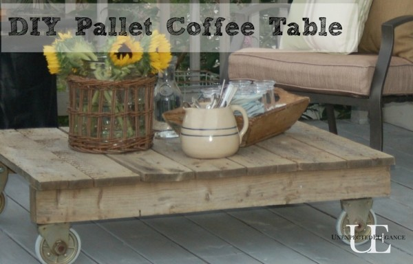 diy pallet coffee table, painted furniture, pallet