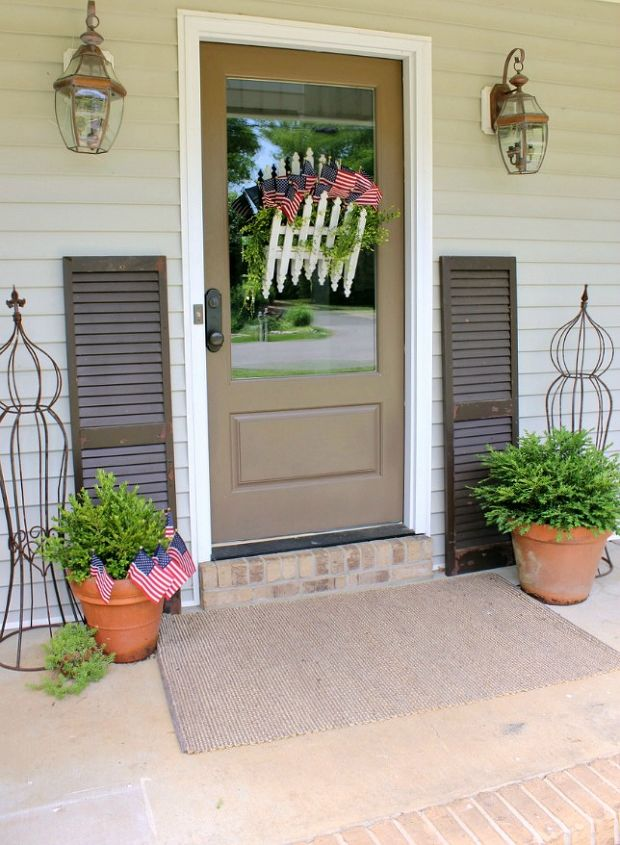 my front porch is dressed for july 4th, patriotic decor ideas, porches, seasonal holiday decor