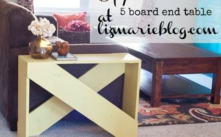diy 5 board end table, electrical, home decor, painted furniture, woodworking projects