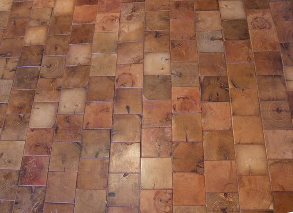 Q End Grain Cobble Block Wood Tile Flooring Woodworking Projects