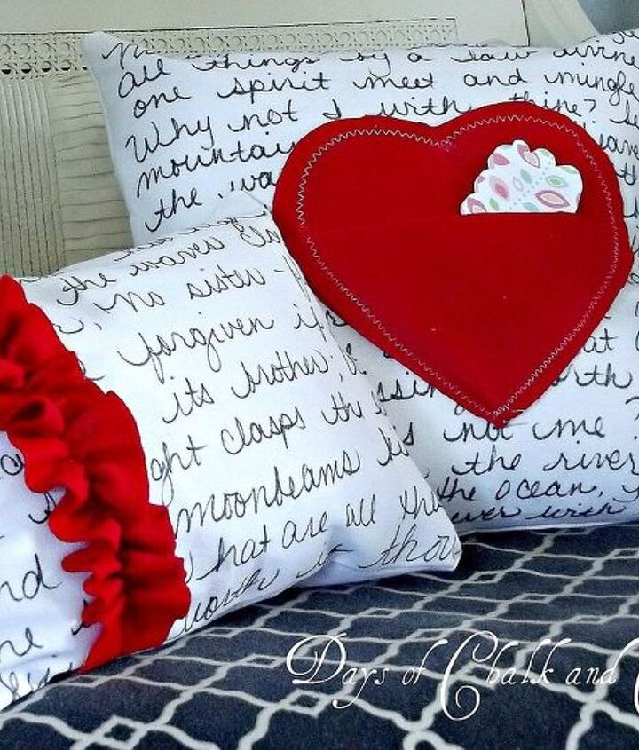 valentine s day pillows love note pillows, crafts, valentines day ideas