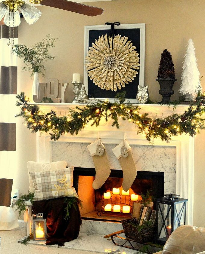 neutral christmas mantel christmas decorations crafts seasonal holiday decor wreaths - Neutral Christmas Decor