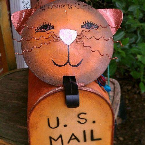 garden toolbox mailbox my latest feline addition, crafts, outdoor living, This is my new garden toolbox mailbox She was too small for my regular mail delivery LOL