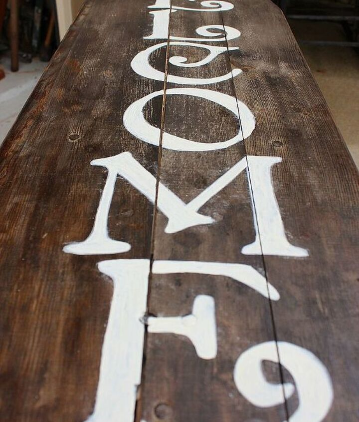 Painted letters