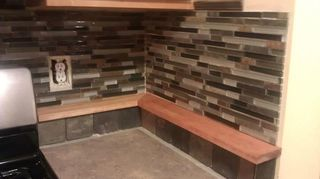 q what is the difference between formica and laminate counter tops which is better and, countertops, painting, Build up laminate backsplashes w functional shelving