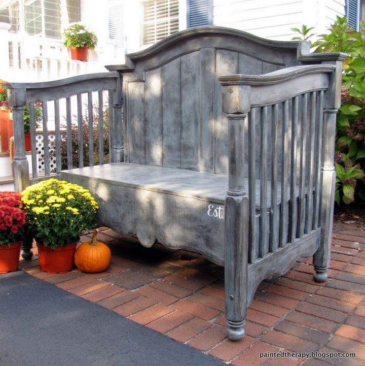 a new life for an old crib, bedroom ideas, painted furniture, repurposing upcycling