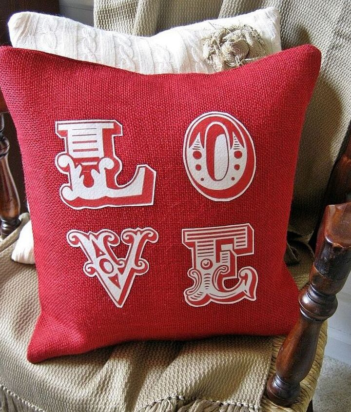 pottery barn inspired love pillow with graphic included, crafts, seasonal holiday decor, valentines day ideas