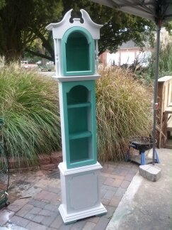 old clock turn into a new cabinet, painted furniture, repurposing upcycling