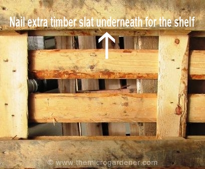 The only structural change required was to add a couple of extra timber palings as 'shelves' for the window boxes. Hammer & nail made it easy.