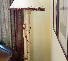 DIY Rustic Birch Sconces And Lamps | Hometalk
