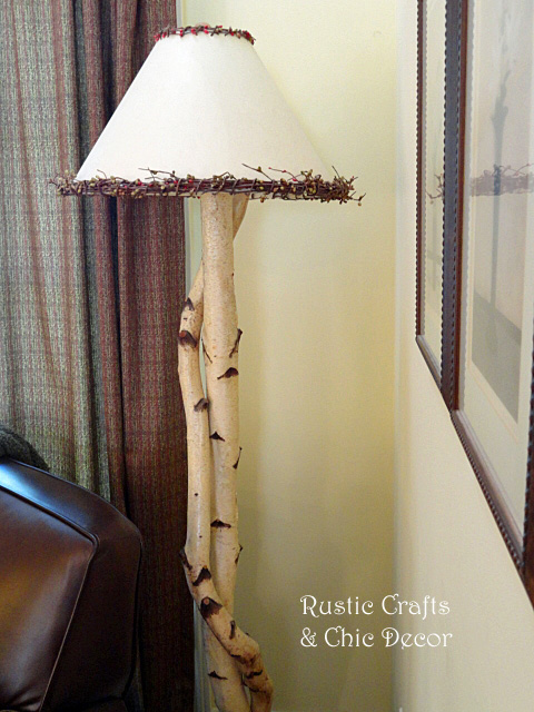 diy rustic birch sconces and lamps, lighting, repurposing upcycling