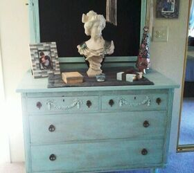 Antique Dresser And Mirror Refurb, Chalkboard Paint, Painted Furniture,  Viola She S Done