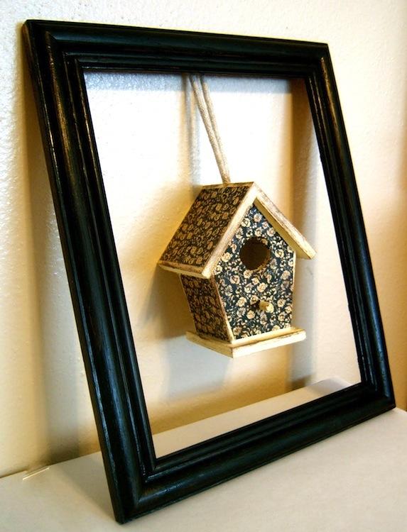 birdhouse frame home decor piece, home decor