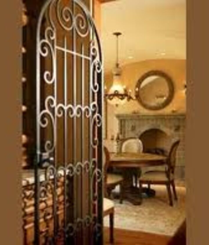 Anything that offers wrought iron..such as this gate...it has my name on it! Love this!   (Hobby Lobby visit !) They have awesome pieces similar to this I could use in  my own space!