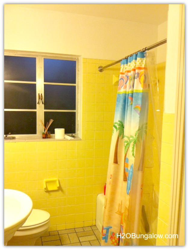creative small bathroom remodel with slate and glass tile, bathroom ideas,  diy, home