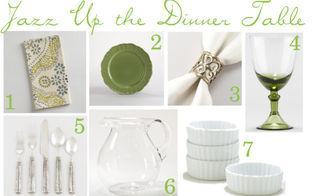 green amp white tablescape, home decor