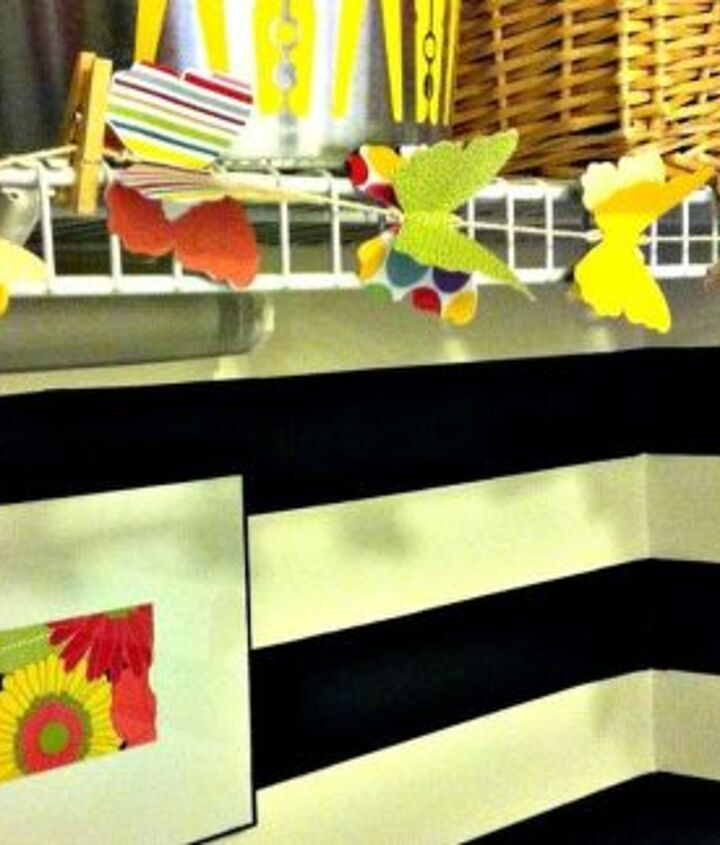 Paper butterfly garland.