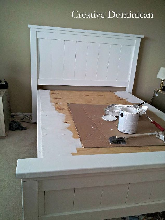 farmhouse bedroom furniture. diy farmhouse bed  bedroom ideas painted furniture woodworking projects DIY Farmhouse Bed Hometalk