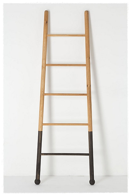 foyer makeover, home decor, painting, This is the ladder I love from Anthropology What color should I dip the legs I was considering a nautical navy blue