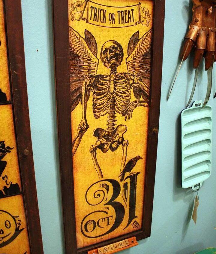 Halloween Faux-Vintage Framed Artwork by GadgetSponge.com