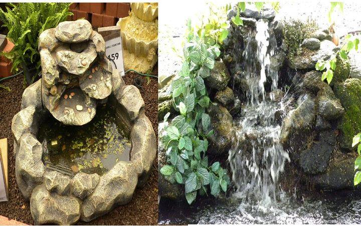 garden pond waterfall, gardening, ponds water features