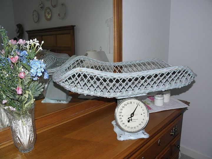 q what to do with vintage baby scale, bedroom ideas, home decor, repurposing upcycling