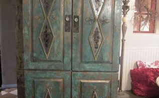 old pine to copper, painted furniture, SK s Pine to Copper Armoire