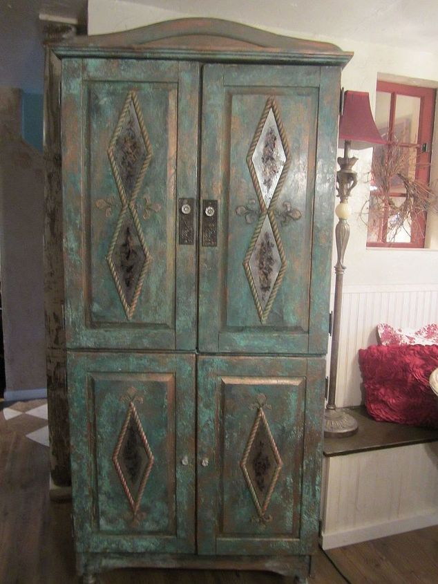 SK's Pine to Copper Armoire.