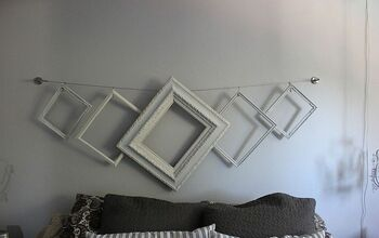 "Easiest and Cheapest Shabby ""Headboard"" Ever!"