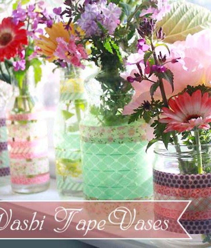 Beautiful Upcycled Washi Tape Vases