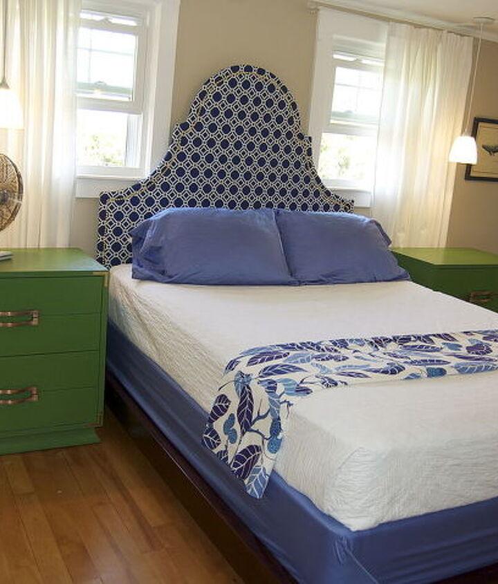 diy fabric headboard, bedroom ideas, crafts, home decor