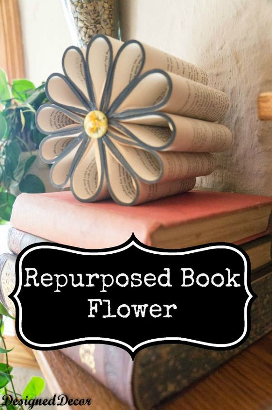 home decorating using old books, crafts, repurposing upcycling