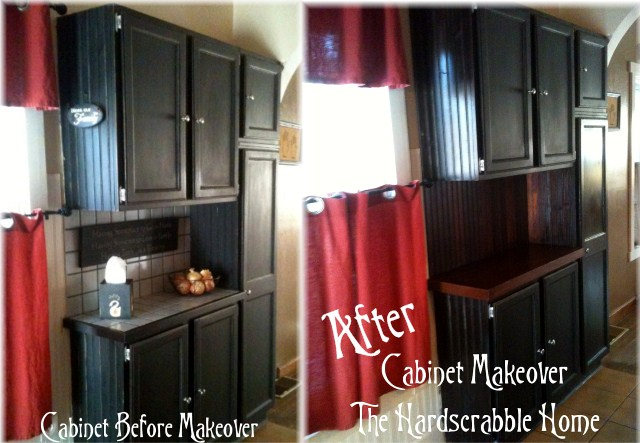 completely free kitchen cabinet makeover, home decor, kitchen cabinets, Before and After This makeover didn t cost us anything Totally FREE