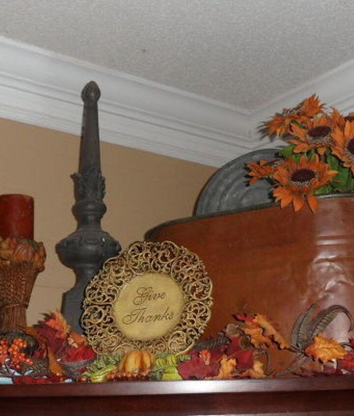 Fall Decorations using Copper Boiler pot