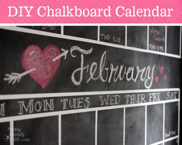 DIY Chalkboard Calendar #wallupdates   Hometalk