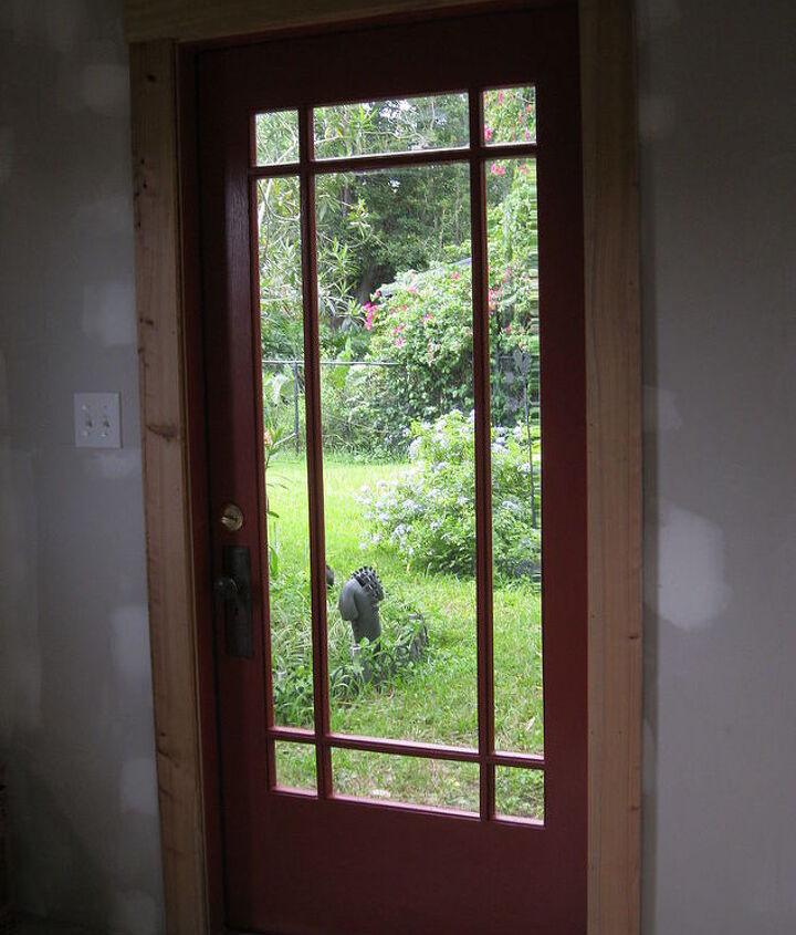 Salvaged wood door