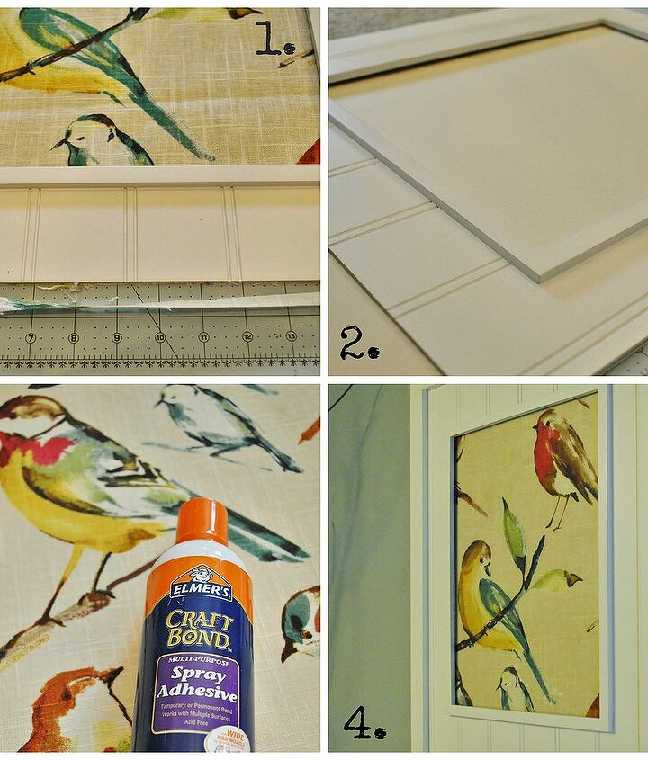 Make easy, inexpensive wall art by framing your favorite fabric