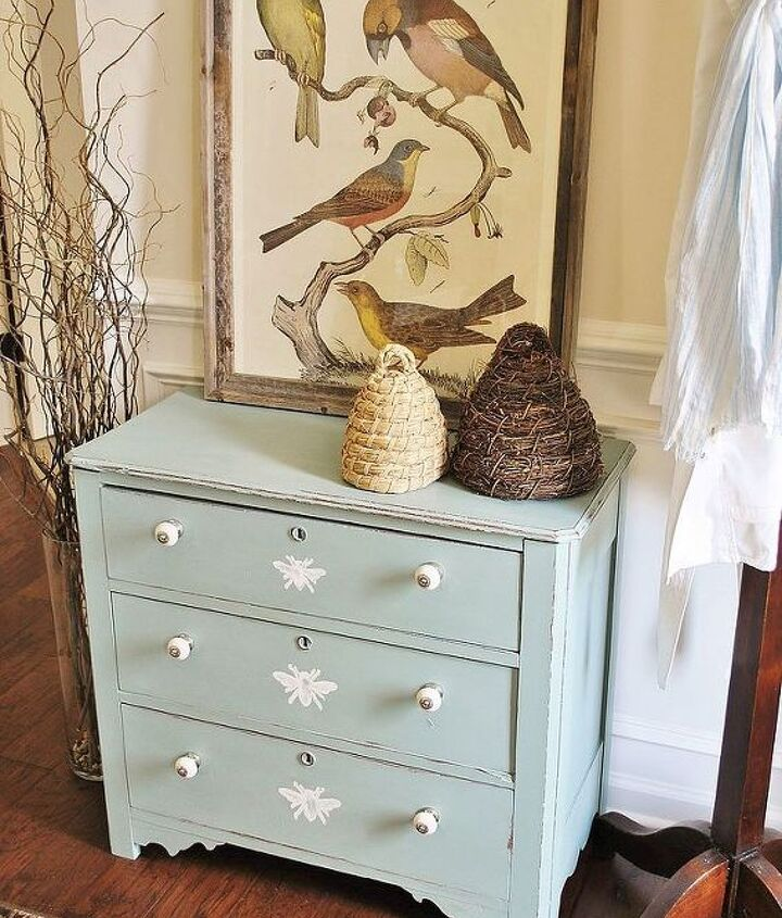 painted honeybee dresser, painted furniture