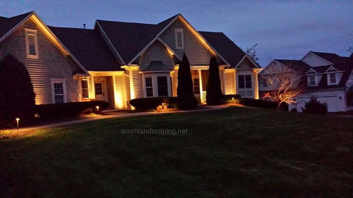 Landscape Lighting, Rochester NY, LED lighting Designer, Installer Monroe County Rochester NY. We were able to install this outdoor lighting system last fall, just in time for a Thanksgiving party.