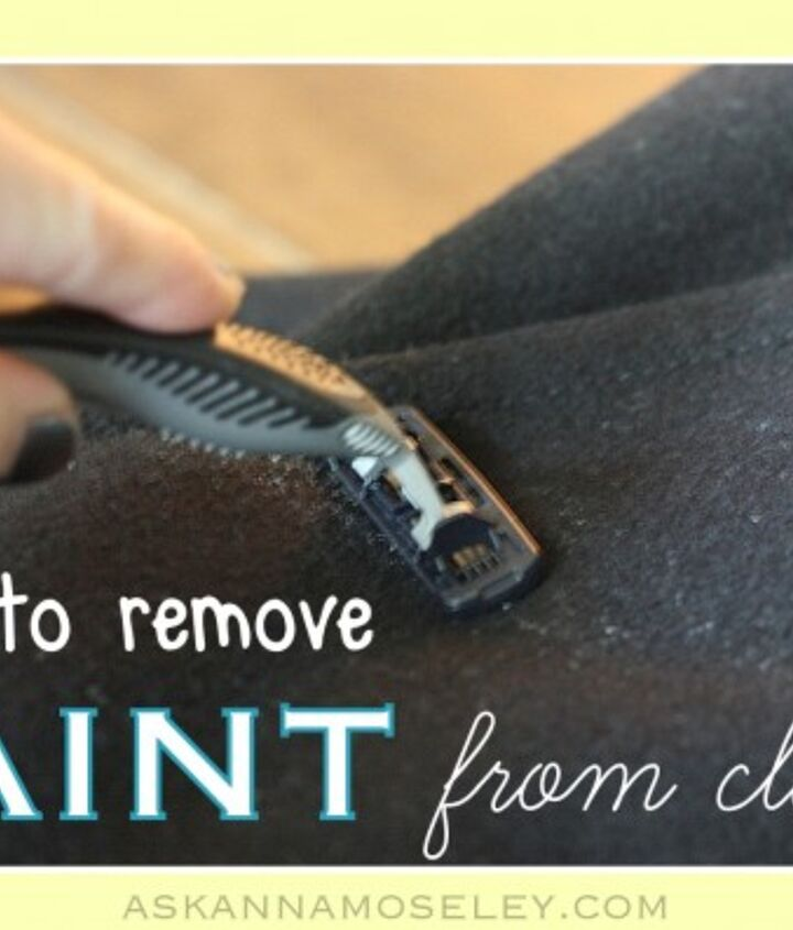 how to get paint off of clothes, cleaning tips