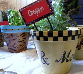 Painted Clay Pots, Container Gardening, Crafts, Gardening, Painting,  Painted Clay Pots