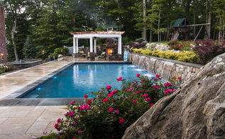 why leave home, decks, outdoor living, pool designs, spas, Large Single Knockout Roses Abound
